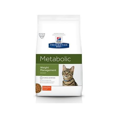 Hill's Prescription Diet Metabolic Weight Management Chicken Flavor Dry Cat Food, 17.6-lb bag