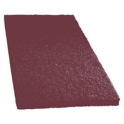 "Scrubble by ACS 47-14x20 14"" x 20"" Maroon Thin Line Conditioning / Surface Preparation Floor Pad - Type 47 - 10/Case"