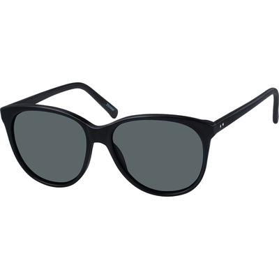 Zenni Women's Sunglasses Black Plastic Frame