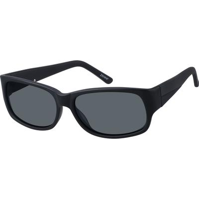 Zenni Men's Sunglasses Black Pla...
