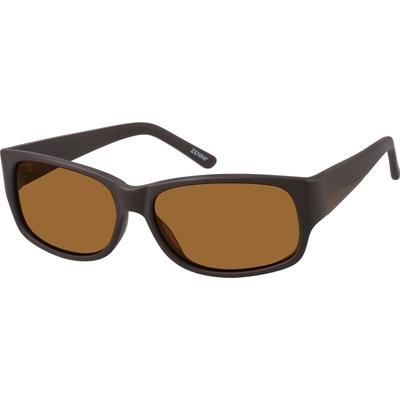 Zenni Men's Sunglasses Brown Pla...