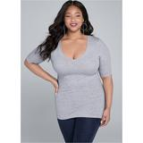 Long AND Lean TEE Tops - Grey