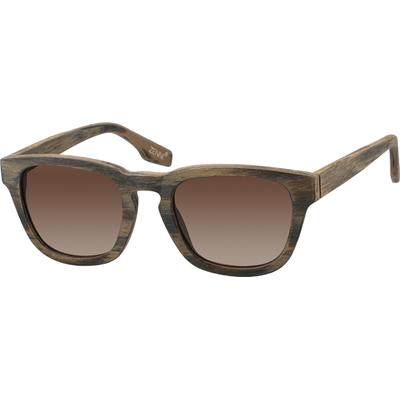 Zenni Women's Sunglasses Brown Plastic Frame