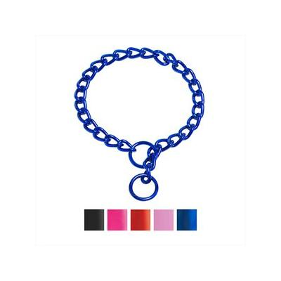 Platinum Pets Chain Training Dog Collar, Sapphire Blue, X-Small, 2 mm