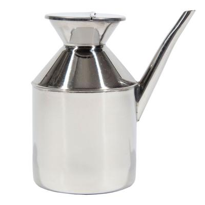 Town 37596 48 oz Soy Sauce Dispenser, With Handle, Hinged Cover, Stainless on Sale