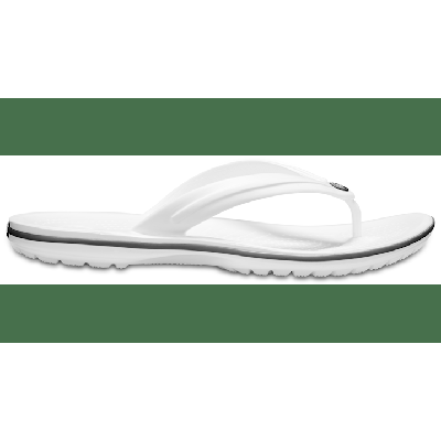 Crocs White Crocband™ Flip Shoes