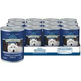 Blue Buffalo Wilderness Turkey & Chicken Grill Grain-Free Senior Canned Dog Food, 12.5-oz, 12 ct