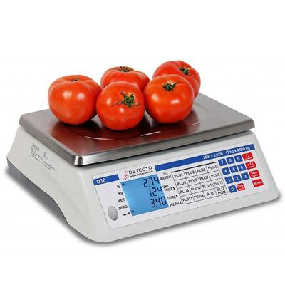 Detecto D15 15 lb Price Computing Scale - Front & Back Display, 110/120v on Sale