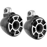 Wet Sounds Rev 8 B-SC V2 8 Black Marine Tower Speakers Swivel