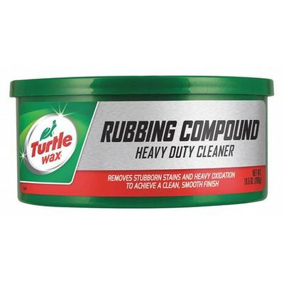 Heavy-Duty Rubbing Compound, 10.5 Oz, Can, Red, Paste, pH 9.5, Removes Blemishes, For Use With Foam Applicators