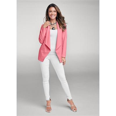 Mid Rise Slimming Stretch Jeggings Pants - White