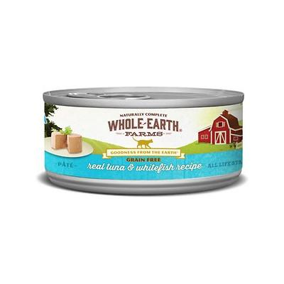 Whole Earth Farms Grain-Free Real Tuna & Whitefish Pate Recipe Canned Cat Food, 2.75-oz, case of 24