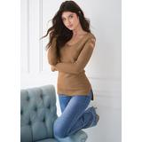 CUT OUT Sleeve Sweater Sweaters - Brown