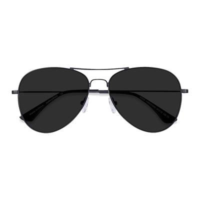 Men's Good vibrations - Black aviator metal - 15925 Metal Rx Sunglasses - EyeBuyDirect Prescription Eyeglasses