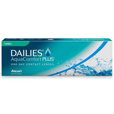 SB: Dailies AquaComfort Plus Toric contact lenses  Dailies AquaComfort Plus Toric soft contact lenses designed for consistent, clear and comfort all day.