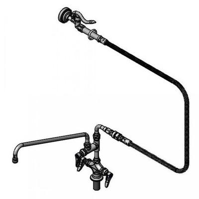 T&S B-0176-ER Spray Assembly w/ 18 Add-On Faucet, 1 Hole Base, 4 Spreader on Sale