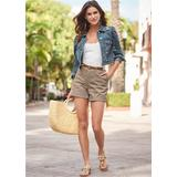 Belted Cuffed Shorts Skirts & Shorts - Neutral
