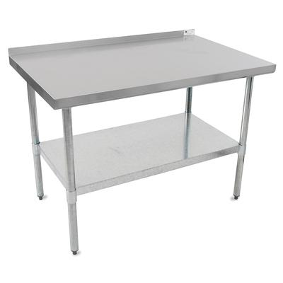 John Boos UFBLG3618 36 18 ga Work Table w/ Undershelf & 430 Series Stainless Top, 1.5 Backsplash on Sale