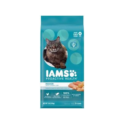 Iams ProActive Health Indoor Weight & Hairball Care Dry Cat Food, 7-lb bag