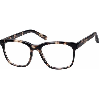 Zenni Square Prescription Glasses Pattern Tortoiseshell Plastic Frame