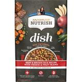 Rachael Ray Nutrish Dish Natural Beef & Brown Rice Recipe with Veggies, Fruit & Chicken Dry Dog Food, 23-lb bag