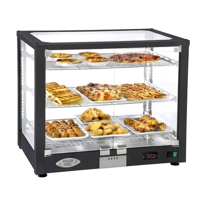 Equipex WD780B-3 30.5 Full-Service Countertop Heated Display Case w/ Straight Glass - (3) Shelves, 120v