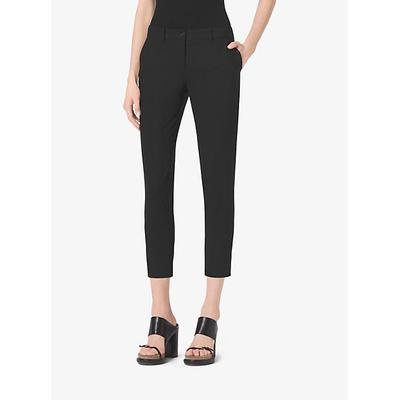 Michael Kors Collection Stretch Wool-Gabardine Trouser Black 10