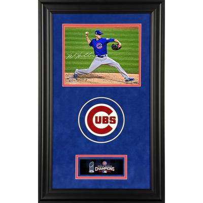 """""""Kyle Hendricks Chicago Cubs 2016 MLB World Series Champions Deluxe Framed Autographed 8"""""""" x 10"""""""" Photograph"""""""
