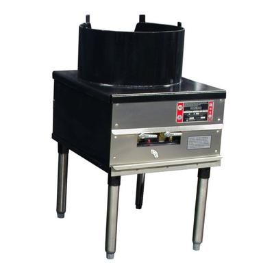 Town SR-24-C-SS-N 18 Cantonese Wok Range, 3/16 Steel Top, Rear Gas Connection NG on Sale