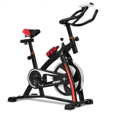 The exercise bike provides electrodeless speed change, optimally weighted flywheel and ultra-comfortable sport saddle, which can be fully adjusted.