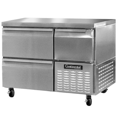 """Continental Refrigerator CFA43-D 43"""" Undercounter Freezer with 2 Drawers and 1 Half Door - 12 cu. ft."""