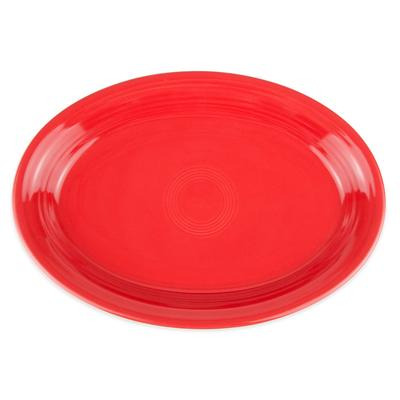 Homer Laughlin 458326 13.63 Oval Fiesta Platter - China, Scarlet on Sale