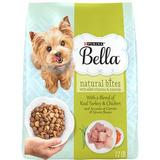 Purina Bella Natural Bites with Real Chicken & Turkey & Accents of Carrots & Green Beans Small Breed Dry Dog Food, 12-lb bag