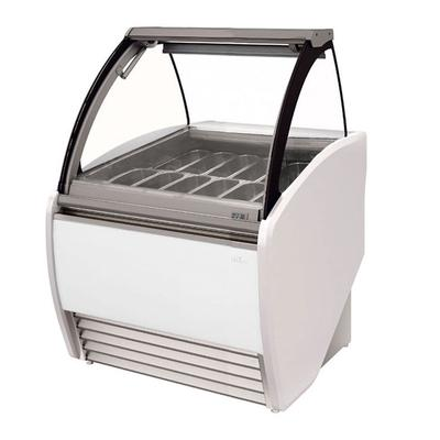 Infrico IDC-VAR12H 52.38 Stand Alone Gelato Dipping Cabinet w/ 14 Pan Capacity, 230v/1ph on Sale