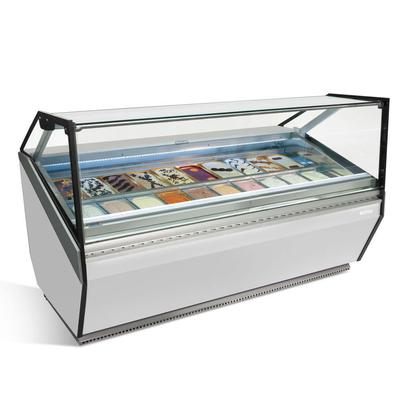Infrico IDC-VAR15HFG 61.5 Stand Alone Gelato Dipping Cabinet w/ 16 Pan Capacity, 230v/1ph on Sale