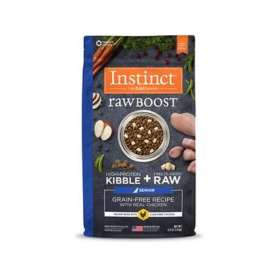 Instinct Raw Boost Senior Grain-Free Recipe with Real Chicken & Freeze-Dried Raw Pieces Dry Dog Food, 4-lb bag