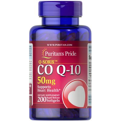 Puritan's Pride Q-SORB Co Q-10 50 mg-200 Rapid Release Softgels