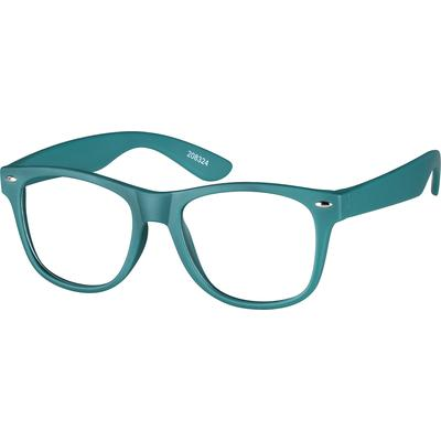 Zenni Kids Square Prescription Glasses Green TR Frame