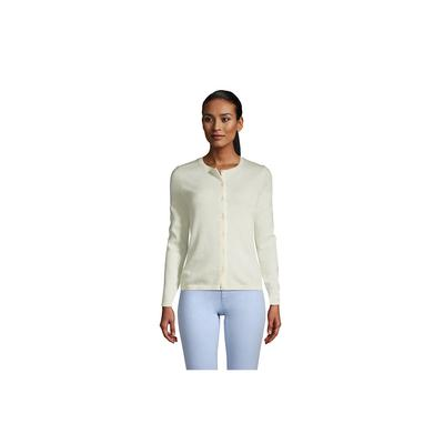 Women's Petite Cashmere Cardigan Sweater - Lands' End - Ivory - XL