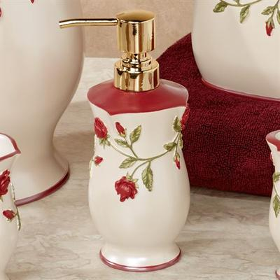 Vining Rose Lotion Soap Dispenser Pearl , Pearl