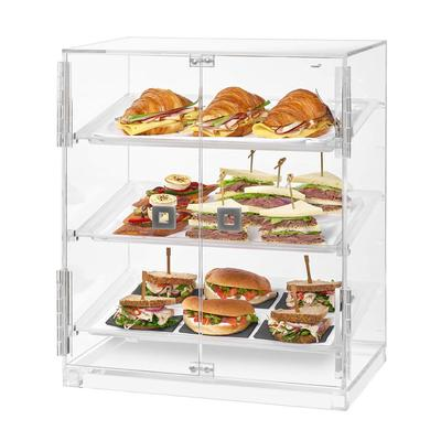 Rosseto BD129 Countertop Bakery Display Case w/ (3) Tiers, 19.1 x 12.75 x 23, Clear Acrylic