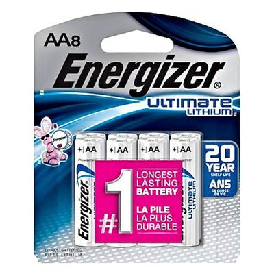 Energizer 06282 - AA Cell 1.5 volt Ultimate Lithium Battery (8 pack) (L91SBP-8 ULTIMATE LITHIUM AA-8PK)
