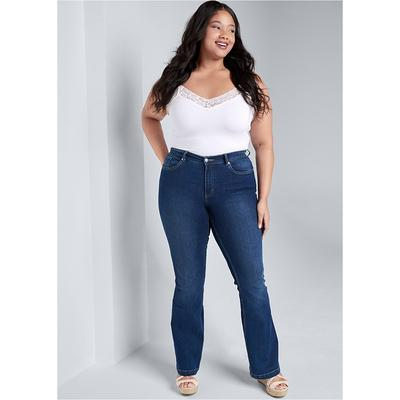 """Casual Boot CUT Jeans Jeans - Blue"" on Sale"