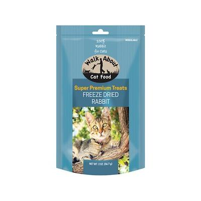 Walk About Grain-Free Freeze Dried Rabbit Cat Treats, 2-oz bag