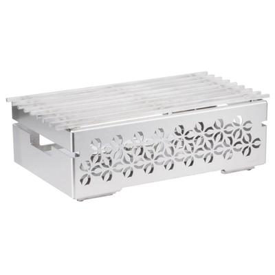 Rosseto SK043 Rectangular Warmer w/ (1) Burner - 21.5 x 13.5, Brushed Stainless on Sale
