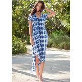 Casual T-Shirt Maxi Dress Dresses - Multi/Blue
