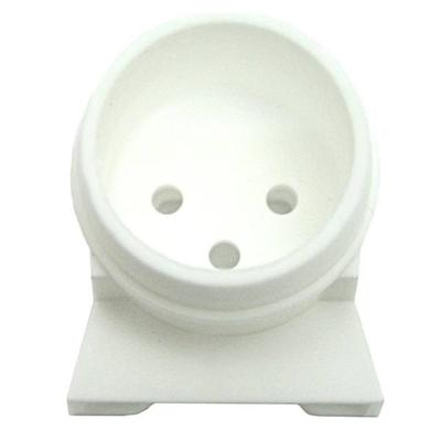 General 00340 - T8 Right Angle White Fluorescent Light Bulb End Cap (LH0340 T8 RT ANGLE WHT END CAP (OPEN END SLEEVE))