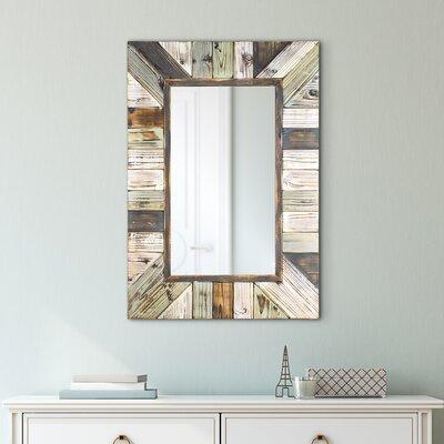 Shop Now For The Union Rustic Whitlock Rustic Wood Plank Rectangular Framed Wall Mirror Wood In Brown Blue Size 39 H X 27 W X 1 D Wayfair Unrs3832 41379113 Ibt Shop