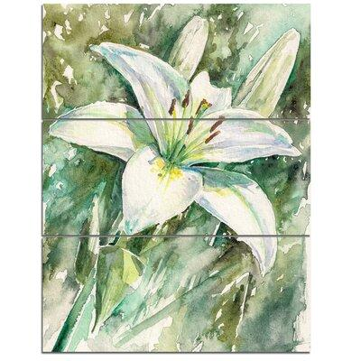 Design Artdesign Art Large White Lily Painting 3 Piece Painting Print On Wrapped Canvas Set Canvas Fabric In Brown White Size Large 33 40 Wayfair Dailymail