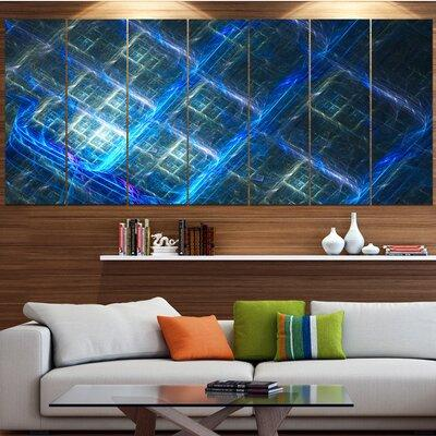 Design Art Glowing Blue Fractal Grill Graphic Art Print Multi Piece Image On Canvas Canvas Fabric In Brown Blue Wayfair Pt15815 732 Shefinds